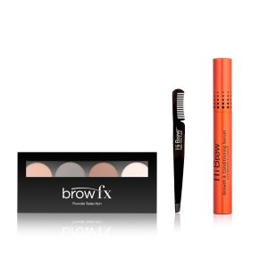 Brow Addict Gift Set with Light - Medium Brown Palette