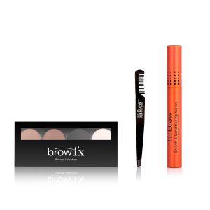 Brow Addict Gift Set with Medium - Dark Brown Palette